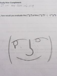Student-designed peer feedback form